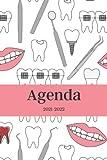 Agenda 2021-2022: Dentista, Calendario 21- 22, Agenda Semanal y Mensual, Regalo Perfecto y Original de Navidad, Papá Noel o...