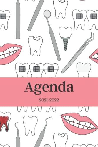 Agenda 2021-2022: Dentista, Calendario 21- 22, Agenda Semanal y Mensual, Regalo Perfecto y Original de Navidad, Papá Noel o Reyes Magos