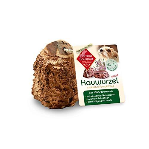 ChronoBalance® Kauwurzel S für Hunde aus Baumheide - 100% Naturprodukt ohne Zusätze - dauer Kauspielzeug, splitterfrei - das natürliche Hundespielzeug/Kauknochen