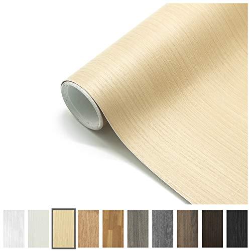 Losu Holztapete Folie Selbstklebende Holz Klebefolie Möbelfolie 61 X 500cm Tapeten Küchenfolie Wandaufkleber Aufkleber aus PVC