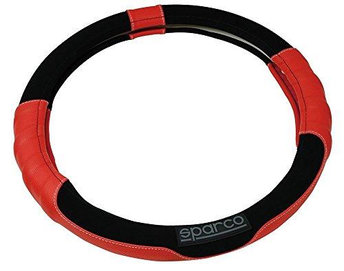 Sparco SPC1108RS Funda de Volante Universal Color Rojo para Coche