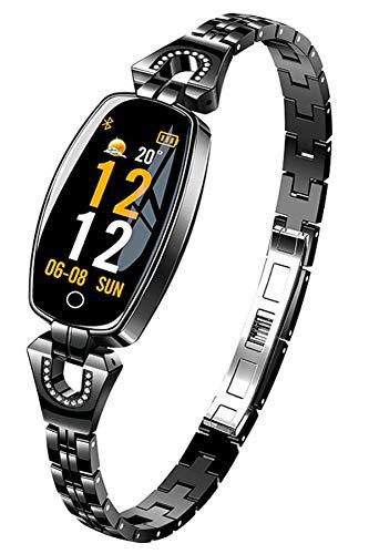 Smart Watch Fitness Tracker für Frauen Herzfrequenzmesser Kalorienzähler Armband Schlafüberwachung Mode Elegant Fitness Uhr Damen