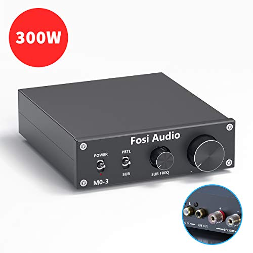 Fosi Audio Subwoofer Amplifier 200 Watt Mono Audio Amp with Full-Frequency and Sub Bass Switchable
