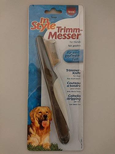 Trixie 2361 Trimm-Messer, fein, 19 cm