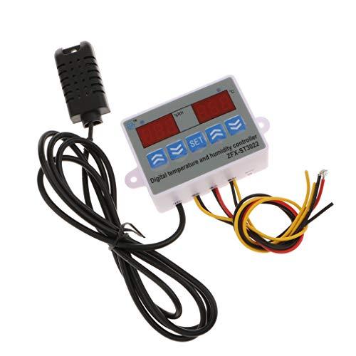 BJLWTQ Termostato de Temperatura y Humedad Digital Termostato 24V, Rango -20  ~ 80 , 1% RH ~ 99% RH