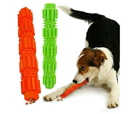 Girls'love talk Hunde Zahnpflege Spielzeug, 2 Stück Hunde Kauspielzeug, Leckerli-Spender für Hunde Welpen-Zahnpflege, Zahnreinigung für kleine und mittlere Hunde, Unzerstörbares Hundespielzeug