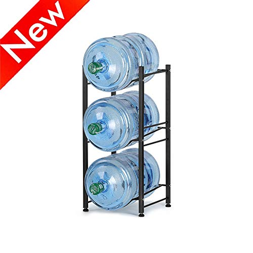 Nandae Water Cooler Jug Rack, 3-Tier Heavy Duty Water Bottle Holder Storage Rack for 5 Gallon Water Dispenser, Save Space