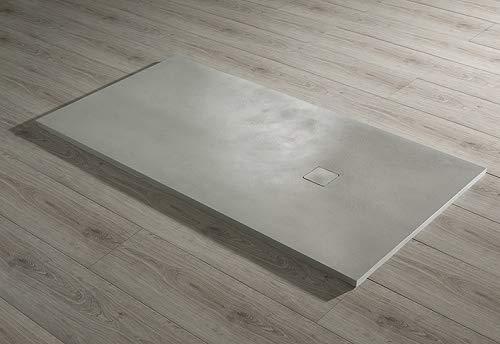 Piatto doccia ultraslim mod. base Beton 80x140 scarico 38.4 l/min (grey)