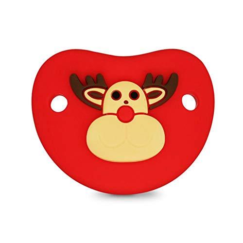 Chupete de Navidad linda de Santa piel suave de usar chupete de silicona para bebés de 0-6 meses
