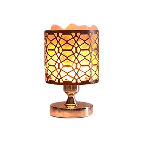 BKKJW lámpara del Himalaya grabado natural iones negativos con regulador de intensidad diseño base hueca (3100g)