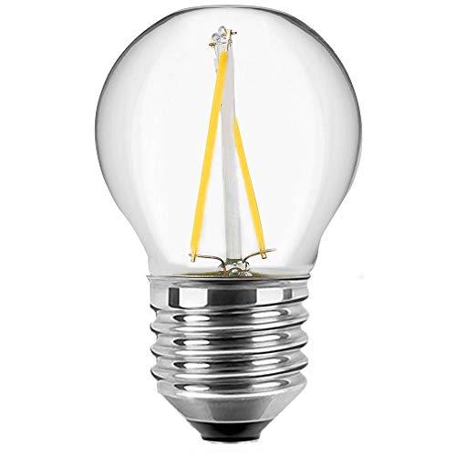 Bombilla LED con filamento, forma de gota, G45 E27, 1 W, 80...