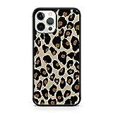 Cover per telefono con motivo leopardato marrone brillante nero maculato (modello di telefono: Samsung Galaxy Note 9)