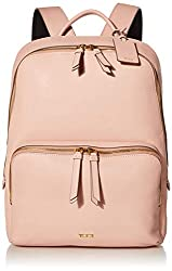 powerful TUMI Varek Hudson Leather Laptop Backpack – 14 inch Computer Bag for Men and Women – Blush