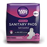 Raho Safe Sanitary Pad Regular with Biodegradable Disposable Bags (40 Pads Count)