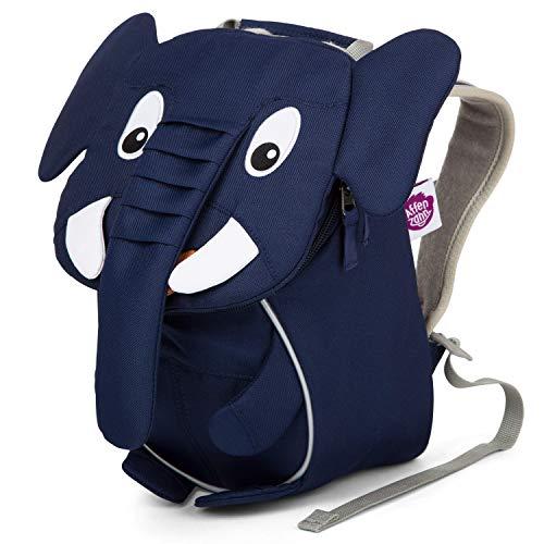 Affenzahn Kleiner Freund - Kindergartenrucksack für 1-3 Jährige Kinder im Kindergarten und Kinderrucksack für die Kita - Elefant - Blau