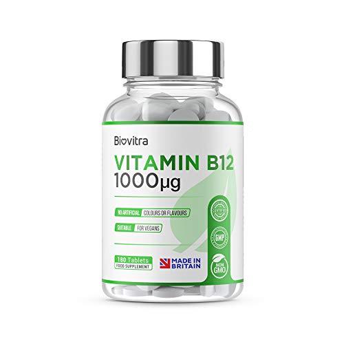 BioVitra la vitamina b12 complex integratore alimentare, 1000ug per compressa ad alta resistenza uk realizzato vitamina b12 complex