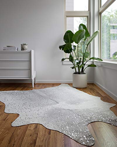 LOLOI II Bryce Collection Faux Cowhide Area Rug, 3