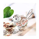 H&D HYALINE & DORA Crystal Bird of Happiness Collectible Figurines Glass Animal Figurine for Table Home Decoration