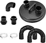POWERTEC 70301 Dust Collection Cyclone Separator Lid Kit w/Flexible Hoses, Clamps 2 1/2 inch, Elbow & Couplers for 2 Stage Dust Collector