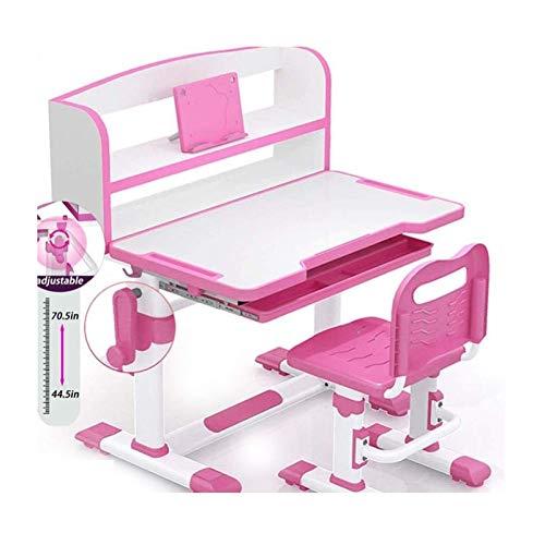 Juego de escritorio y silla para niños Mesa de escritorio de estudio Escritorio para niños Mesa de escritorio de estudio con cajón de almacenamiento de escritorio inclinable para estudiar le
