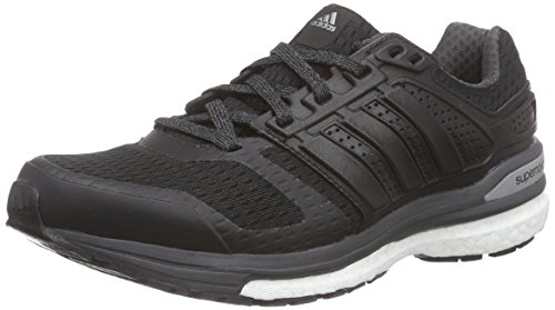 adidas Performance Damen Supernova Sequence Boost 8 Laufschuhe, Schwarz (Core Black/Core Black/DGH Solid Grey), 36 EU