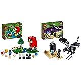 LEGO Minecraft La Granja de Lana, Juguete de constucción Inspirado en el Videojuego + La Batalla En El End, Juguete Divertido de Construcción