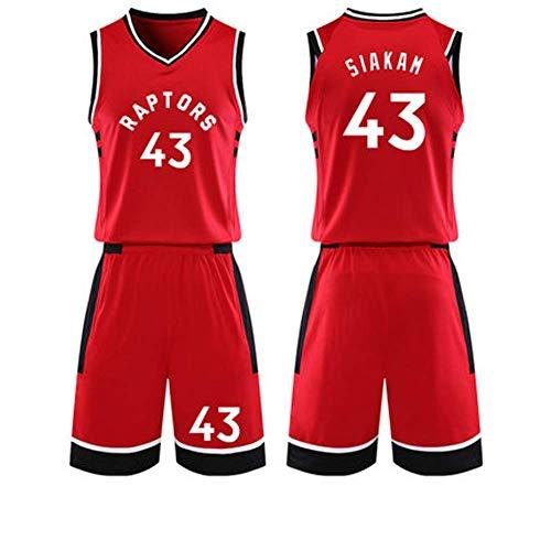 YSA Little Boys Basketball Jersey # 43 Pascal Siakam Conjunto de jersey de baloncesto Conjunto de 2 piezas de camiseta y pantalones cortos de baloncesto, Temporada 2018-19 Campeonato de la NBA, M-XXXL