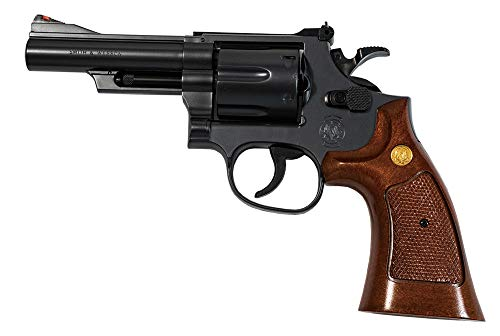 クラウンモデル ホップアップエアリボルバー No.21 S&W M19 .357 コンバット マグナム 4インチ ブラック ウッドタイプグリップ 10歳以上エアーソフトガン