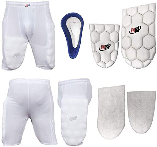 Cricket Batting Thigh Guards Protective Shorts with Groin Cup (Medium, Sports Protective Shorts)