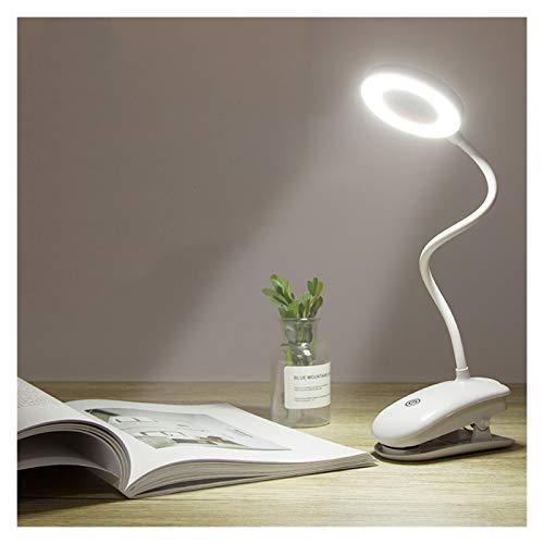 Lámpara de escritorio recargable por USB, lámpara de escritorio LED flexible al tacto, lámpara de mesa con clip para cama y ordenador, 3 modos de color (color: 2000 mAh)