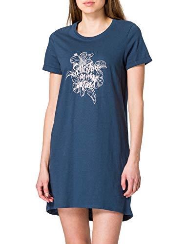 Schiesser Damen Sleepshirt 1/2 Arm, 85cm Nachthemd, Petrol, 44