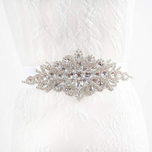 Cinturones de diamantes de imitación Cinturones plateados para mujeres Cinturones...
