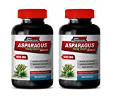 Diuretic and Anti-inflammatory Pill - Asparagus 600 MG - Young Shoots Extract - Premium Dietary Supplement - antioxidant Supplement for Skin - 2 Bottles 200 Capsules