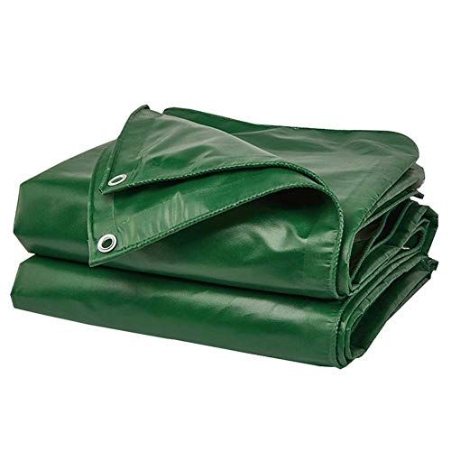 Groundsheet Cover Tarpaulin PVC Material Heavy Duty Tarps Thickness 0.4mm Stable And Durable Outdoor Shade Sun Insulation 450g/㎡ 14 Sizes (Color : Green, Size : 3X3M)