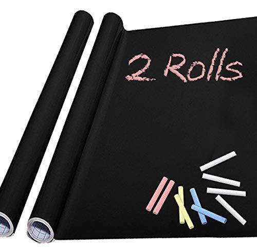Chalkboard Paper 2 Rolls-Chalkboard Vinyl Sticker Wallpaper (17.4' x 78.7')