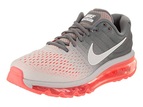 Nike Women's Air Max 2017 Running Shoe Pure Platinum/White-Cool Grey-HOT Lava 5
