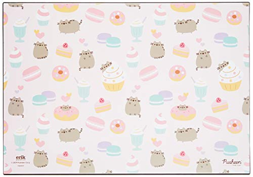 Erik® - Sous-Main Bureau Pusheen the Cat Rose Collection | Sous-Main Bureau Enfant | 34x49cm