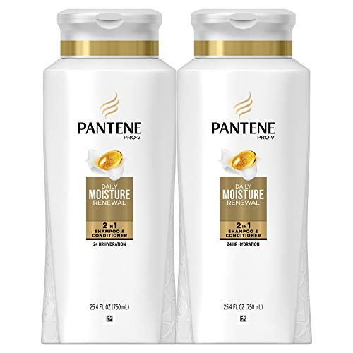 Pantene Shampoo and Conditioner 2 in 1 ProV Daily Moisture Renewal for Dry Hair 254 Fl Oz Pack of 2