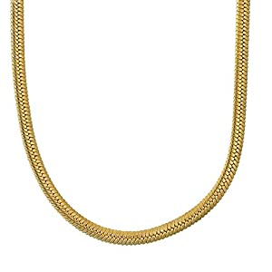 Memoir Gold plated thin Flat body Snake design chain Women Men