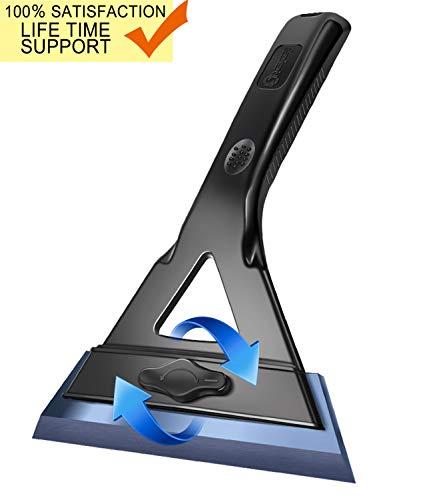 Raniaco Eiskratzer für Auto - Max VOLLKONTAKT Windschutzscheibenschaber | 14CM Breitste Form Einstellklinge | Schneeschaber-Schaufel für Auto Keine Kratzer Zeit- und Arbeitsersparnis