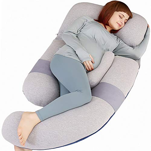 MOON PINE 60 inch Pregnancy Pillow, Detachable U Shape Full Body Pillow for Maternity Support, Sleeping Pillow for Pregnant Women...