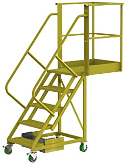 Tri-Arc UCU500530242 U-Design Unsupported 5-Step 30-Inch Cantilever Industrial & Warehouse Rolling Ladder with Grip Strut Tread (B00D613JD0) | Amazon price tracker / tracking, Amazon price history charts, Amazon price watches, Amazon price drop alerts