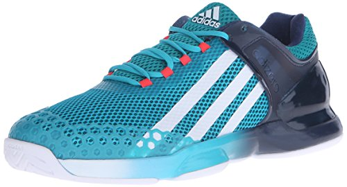 adidas Performance Men's Adizero Ubersonic Tennis Shoe, White/Black/Solar Red, 14 M US