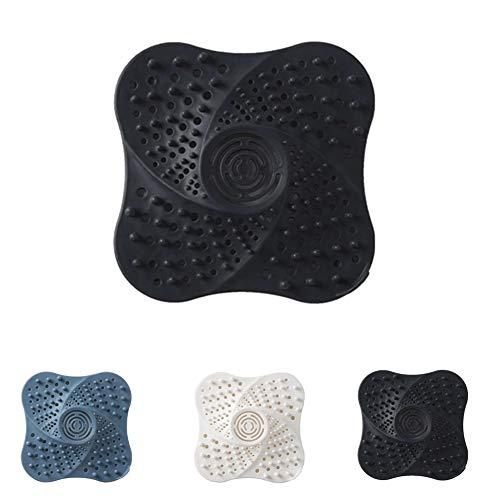 HDCRAFTER Haarfänger, Waschbeckenfilter, Duschablauf-Abdeckungen, Abfluss-Sieb für Badezimmer, Badewanne und Küche, einfach zu installieren und zu reinigen (Farbe: 3 Stück)