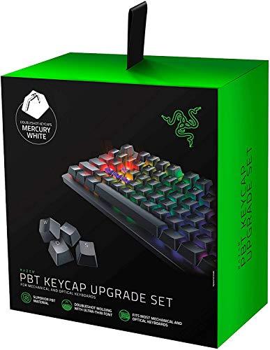 Razer PBT Keycap Set für Gaming Tastatur - Tastenkappen-Upgrade-Set für mechanische und optische Tastaturen (Hintergrundbeleuchtungskompatibilität, überlegenes PBT-Material) Mercury / Weiß