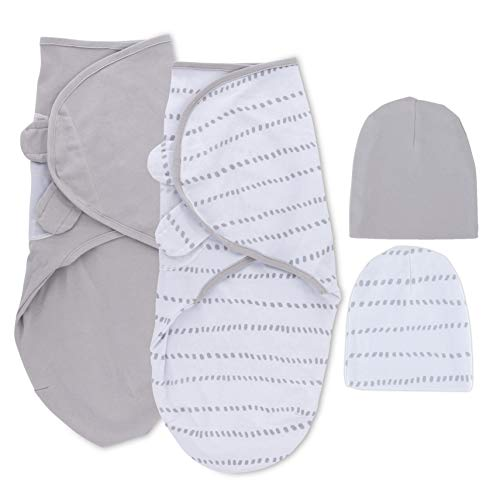 Petit Dreams Adjustable Swaddle and Beanie Set Jersey Knit