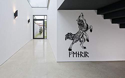 Vinyl Sticker Fenrir Wolf Viking Scandinavian Mythology Ornament Mural Decal Wall Art Decor EH1565