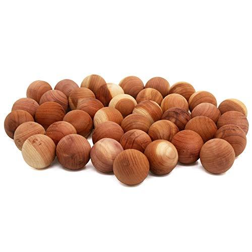 Yizhet 40 Stück Mottenkugeln aus Zedernholz Geruchskugeln Mottenschutz Set