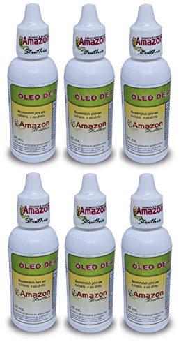 Kit 6 Oleo De Avestruz - Amazon Struthio 35ml