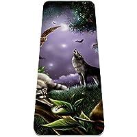 ヨガマット Badger Wolf Owl あらゆるタイプのヨガ、ピラティス、フロアワークアウト用の極厚の滑り止めエクササイズ&フィットネスマット